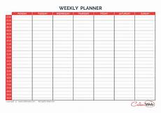 Weekly Day Planner Printable Weekly Planner 7 Days First Day Monday A Week Of 7 Days