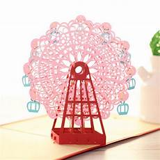 pop up card ferris wheel template diy 3d greeting card with envelope pop up birthday