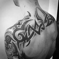 Tribal Back Designs For Men 60 Tribal Back Tattoos For Men Bold Masculine Designs