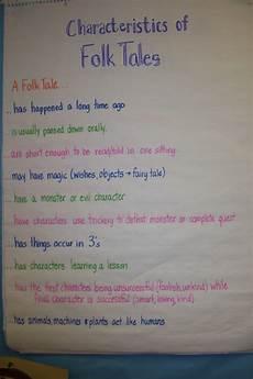 A List Of Characteristics Characteristics Of Folk Tales Anchor Charts Pinterest