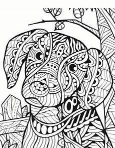 Malvorlage Hund Mandala Mandalas Zum Ausdrucken Tiere Leicht In 2020