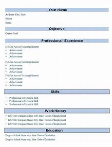Simple Cv Formats Simple Resume Template 47 Free Samples Examples