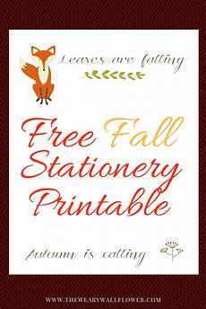 Autumn Stationery Free Autumn Stationery Printable For Fall Notes The