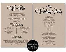 Program Template For Wedding Ceremony Program Template Wedding Program Printable We Do