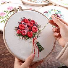 era wedding decor flower embroidery with bamboo hoop