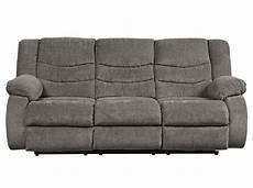 Signature Design By Tulen Gray Reclining Sofa And Loveseat Signature Design Tulen Gray Chenille Manual Recliner Sofa