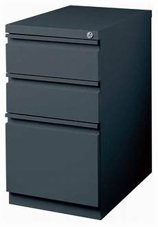 hirsh industries 3 drawer mobile file cabinet in charcoal