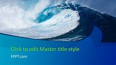 Ppt On Waves Free Big Wave Powerpoint Template Free Powerpoint Templates