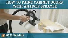 how to paint cabinet doors using an hvlp sprayer rogue