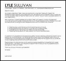 Cover Letter For Teller Position Bank Teller Cover Letter Sample Cover Letter Templates