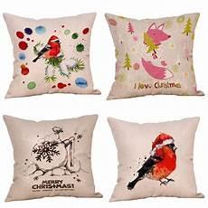 4pc merry printed throw pillow decorative
