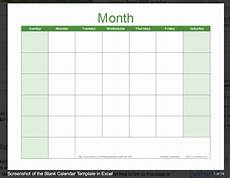 Blank Caledar Get Free Blank Monthly Planner Templates The Best