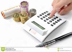 Calculating Expenses Woman Calculating Company S Expenses Royalty Free Stock