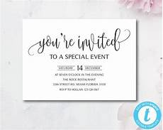 You Re Invited Templates Elegant You Re Invited Invitation Template Special Event