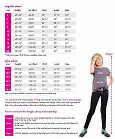 Justice Size Chart Size Chart For Swim Kani Pinterest Flounce