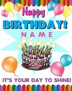 Make Happy Birthday Banner Online Free Create A Happy Birthday Poster Birthday Birthday Cake