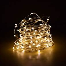 String Lights Fairy Lights 100 Warm White Led Fairy Wire Waterproof String Lights