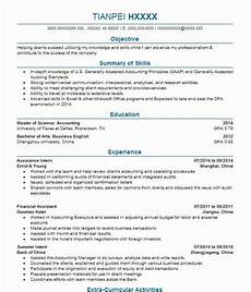 Ernst And Young Resume Sample Assurance Intern Resume Example Pricewaterhousecoopers Llp