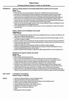 Digital Media Resume Media Digital Manager Resume Samples Velvet Jobs