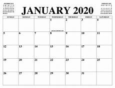 January 2020 Calendar Download January 2020 2021 Calendar Of The Month Free Printable