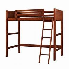 wood loft bed furniture ladder home storage rails