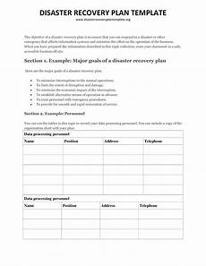 Disaster Recovery Plan Template Disaster Recovery Plan Template Templates At