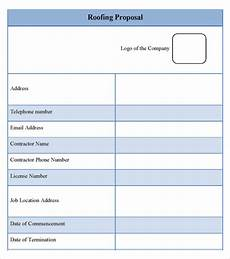 Roofing Proposal Forms 12 Roofing Estimate Templates Pdf Docs Word Free