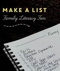 Make An Online List Make A List Home Literacy Blueprint