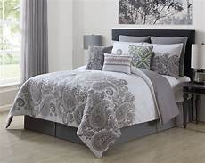 13 mona gray white 100 cotton bed in a bag set