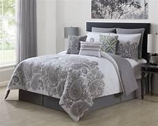 9 mona gray white 100 cotton comforter set