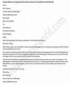 Sample Memo To Inform 187 Memo To Employee Who Did Not Inform Hr Before Going On