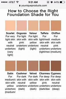 Ricci Foundation Colour Chart Younique Color Chart If You Are Difficulty