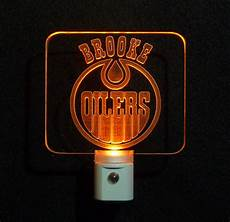 Led Light Store Edmonton Personalized Edmontonoilers Custom Led Night With Name