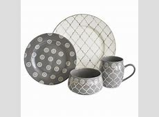 Baum Bros.® Morocco 16pc Dinnerware Set Gray : Target