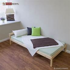 singlebed solid pine wooden frame daybed nature