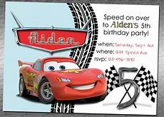 Cars Birthday Invites Lightning Mcqueen Birthday Invitation Google Search
