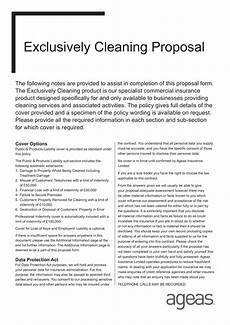 Cleaning Business Proposal Sample Cleaning Proposal Templates At Allbusinesstemplates Com