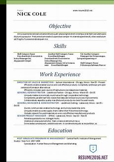 Word Template For Resume Word Resume Templates 2016