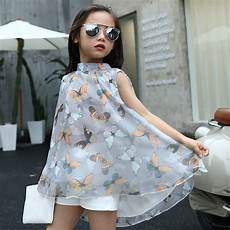 2017 new dress summer fashion sleeveless butterfly