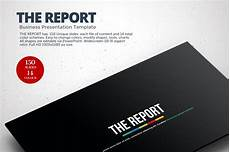 Powerpoint Presentations Template The Report Powerpoint Template Powerpoint Templates