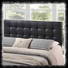 vinyl button tufted headboard upholstered bed