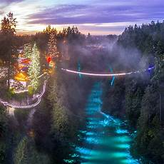 Capilano Suspension Bridge Canyon Lights Tickets Canyon Lights A Winter Lights Festival Still On