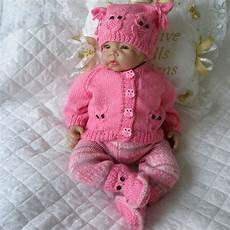 baby dolls knitting pattern owl cardigan set for 17 quot 22