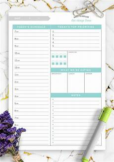 Hourly Daily Planner Download Printable Daily Hourly Planner Template Get
