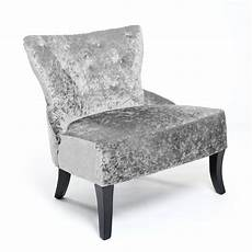 shankar belgravia crushed velvet silver accent chair