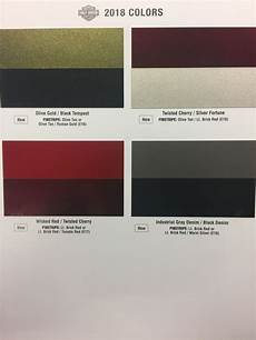 Anyone See The New 2018 Color Chart Page 3 Harley