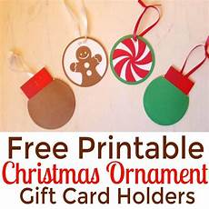 Free Printable Gift Cards Diy Ornament Gift Card Holders Free Printables Simple
