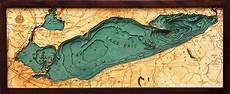 3d Lake Erie Nautical Wood Map Depth Chart