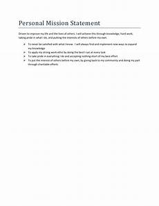Examples Of Personal Mission Statements For Career Career Portfolio