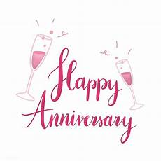 Happy Anniversary Design Pink Happy Anniversary Typography Vector Free Image By